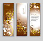 Floral Banners. Vector Backgrounds. Eps10. — Stock Vector