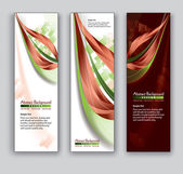 Abstract Banners. Vector Backgrounds. Eps10. — Vettoriale Stock