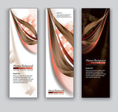 Abstract Banners. Vector Backgrounds. Eps10. — Stock Vector
