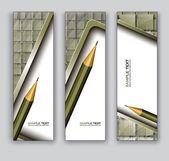 Vettore striscioni con la matita. eps10. — Vettoriale Stock