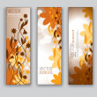 Floral Banners. Abstract Backgrounds. Eps10. — Stock Vector