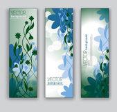 Banner floreale. sfondi astratti. eps10. — Vettoriale Stock