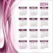 Stock Vector: 2014 Calendar. Vector Background.