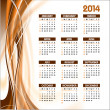 2014 Calendar. Vector Background. — Stock Vector