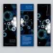 Abstract Banners. Vector Backgrounds. Set of Three.  — Imagen vectorial