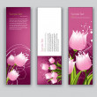 Abstract Floral Banners. Vector Backgrounds. Set of Three. — Stock Vector #31576919
