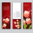 Abstract Floral Banners. Vector Backgrounds. Set of Three. — Stock Vector #31576921