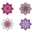 Set of Vector Flowers. — Stock Vector
