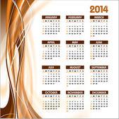 2014 Calendar. Vector Background. — Stock Vector