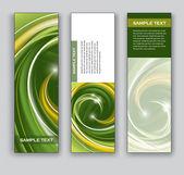 Abstracte banners. vector achtergronden. set van drie. — Stockvector
