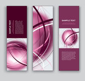 Abstract Banners. Vector Backgrounds. Set of Three. — Stock Vector