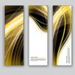 Vector Banners. Abstract Backgrounds. — Stock Vector