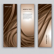 Vector Banners. Abstract Backgrounds. — Vettoriali Stock