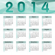 2014 Calendar. Vector Illustration. — Stock Vector