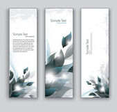 Vector Banners. Abstract Backgrounds. — Stockvektor