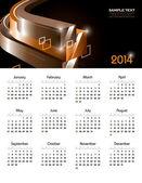 Calendario 2014. ilustración vectorial. — Vector de stock