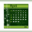 2014 Calendar. April. — Stock Vector #32090015