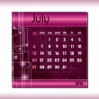 Stock Vector: 2014 Calendar. July.