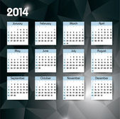 Kalendář 2014. upravitelné vektorové ilustrace. — Stock vektor