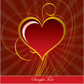 Heart. Valentine's Day Background. — 图库矢量图片