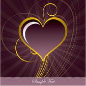 Heart. Valentine's Day Background. — Stockvektor