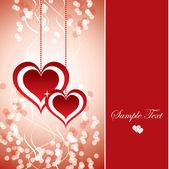 Hearts. Valentine's Day Background. — ストックベクタ