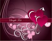 Hearts. Valentine's Day Background. — Stockvektor