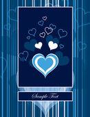 Hearts. Valentine's Day Background. — Wektor stockowy
