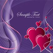Srdce. valentýna pozadí. — Stock vektor
