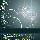 Harten. aftelkalender voor valentijnsdag achtergrond. — Stockvector