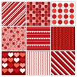 Seamless Valentines Backgrounds. Abstract Illustration. — Stok Vektör