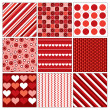 Seamless Valentines Backgrounds. Abstract Illustration. — ストックベクタ