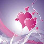 Hearts. Valentine's Day Background. — Vector de stock