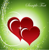 Hearts. Valentine's Day Background. — 图库矢量图片