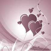 Hearts. Valentine's Day Background. — Cтоковый вектор