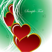 Hearts. Valentine's Day Background. — Stockvector