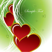 Hearts. Valentine's Day Background. — Vettoriale Stock