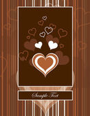Hearts. Valentine's Day Background. — Stock vektor
