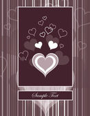 Hearts. Valentine's Day Background. — Vecteur
