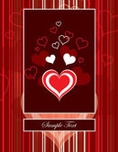 Hearts. Valentine's Day Background. — Stok Vektör