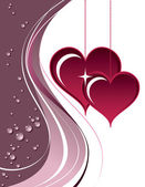 Hearts. Valentine's Day Background. — Wektor stockowy