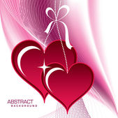 Hearts. Valentine's Day Background. — Stock Vector