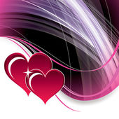 Hearts. Valentine's Day Background. — Stockvektor