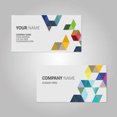 Business Card Set. Vector illustration. EPS10 — Stock Vector