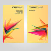 Color Business Card Set. Vector illustration. EPS10 — Stock Vector