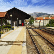 Stock Photo: Old train station