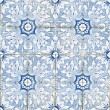 Portuguese vintage ceramic tiles - Stock Photo