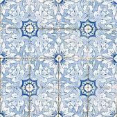 Portuguese vintage ceramic tiles — Stock Photo