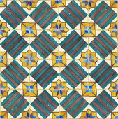 Texture of ancient ceramic tiles — Stock Photo