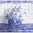 Stock Photo: Ancient portuguese tiles with ship